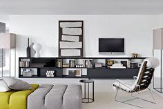 Contemporary TV wall unit by Antonio Citterio - FLAT.C - B&B Italia