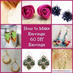 How to Make Earrings: 60 DIY Earrings | AllFreeJewelryMaking.com