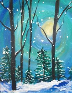 I am going to paint Winter Moon at Pinot's Palette - Sanderlin to discover my inner artist!