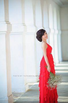 Red Dress 紅色晚禮服 Photo By Taipeiroyalwed.tw