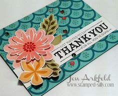 Flower Patch meets Striped Scallop Die - Stampin' Up!  by Jen Arkfeld - Stamped Silly