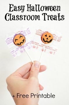 Easy Halloween Classroom Treats + Free Printable (Make this last-minute idea in less than 5 minutes!)