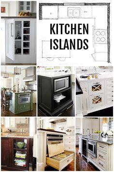 Kitchen Island Layouts And Design Via Remodelaholic.com Kitchen Island  Microwave, Large Kitchen Island