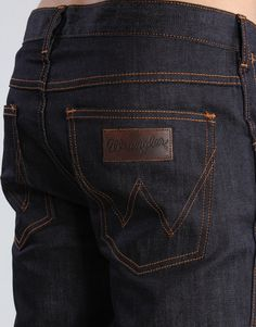 """Dry or raw denim (contrasted with """"washed denim"""") is denim that is not washed after having been dyed during production. During the process of wear, fading will usually occur on those parts of the article that receive the most stress. In a pair of jeans, these parts include the upper thighs, the ankles, and the areas behind the knees. To facilitate the natural distressing process, some wearers of dry denim will abstain from washing their jeans for more than six months."""