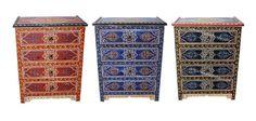 Badia Design Inc Store - Hand Painted Nightstand from Morocco - HP-CA020, $395.00 (http://www.badiadesign.com/moroccan-hand-painted-nightstand-hp-ca020/)