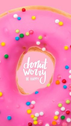Donu Worry- Be Happy! Wallpaper for iPhone/Android