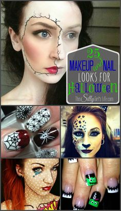 A full on costume might not be your style for Halloween but you still want to do something fun! Here I have put together 25 makeup and nail looks you can do last minute. So fun! {Please check out my newest Halloween Makeup Round Up by CLICKING HERE for even more looks!) 25 Makeup and …