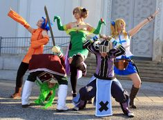 amazing fairy tail cosplay | Fairy Tail - We are...THE GINYU FORCE! by ~ValentineResha on ...
