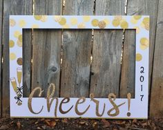 New Year's Eve Party giant photo booth frame by Winterlandstudios