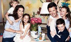 Prins Frederik, prinses Mary en hun kinderen