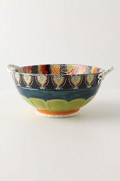 Calvia Serving Bowl #anthropologie - check out all the fun designs they have now for serving bowls!