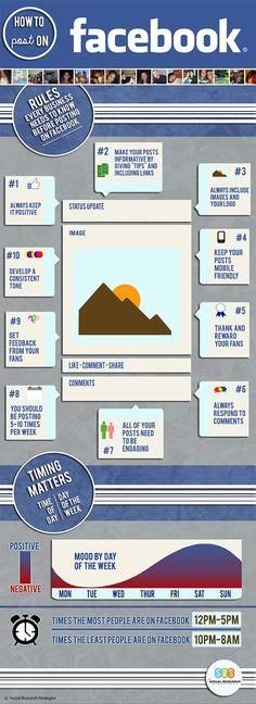 How to post on FaceBook #infografia #infographic #socialmedia www.november.media
