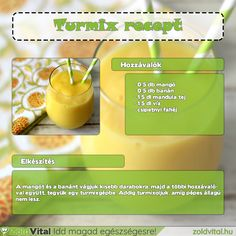 Egy finom és egyszerű mangó turmix receptje. #turmix #mangó