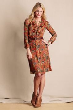 Womens Paisley Holiday Party Dress from Lands End