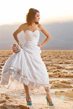 Las Vegas trash the dress photographer, Badwater Basin, Death Valley salt flats, dry lake bed, wedding