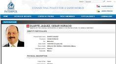 Ficha Interpol al ex gobernador César Duarte | El Puntero
