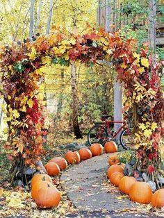 2014 autumn leaves wedding arch decor, golden yellow wedding arch #Valentines day wedding decor #Fall wedding ideas www.dreamyweddingideas.com