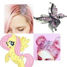 Fluttershy's Hair Look Book
