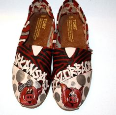 Hand Painted Razorback TOMS