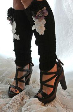 Black boot socks sexy leg warmers women's by TrueRebelClothing, $40.00