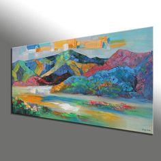 Abstract Art Abstract Painting Large Art Canvas door GeorgeMillerArt