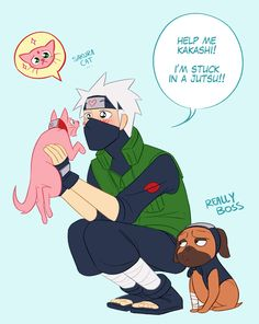 ksanon:   In which Kakashi finds Sakura under a spell and he is still completely enamored.  Kakasaku week, Cat and Dog!