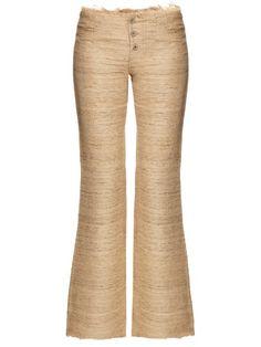 Marques'Almeida Silk-noil bootcut trousers