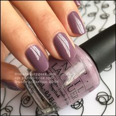 Nail art is a very popular trend these days and every woman you meet seems to have beautiful nails. It used to be that women would just go get a manicure or pedicure to get their nails trimmed and shaped with just a few coats of plain nail polish. Mauve Nails, Opi Nails, Nail Polishes, Shellac Nails Fall, Gradient Nails, Purple Nails, Nail Nail, Gorgeous Nails, Pretty Nails
