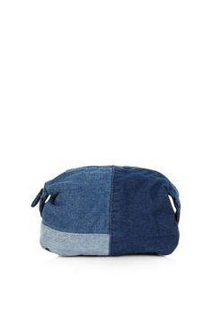 Patchwork Denim Make Up Bag - Bags  Purses  - Bags  Accessories