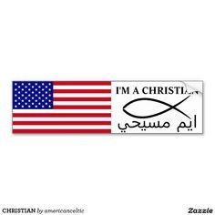 CHRISTIAN CAR BUMPER STICKER