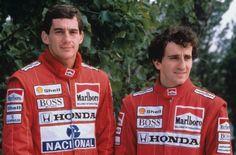 Duelo de Titanes: Ayrton Senna vs Alain Prost, comienza el espectáculo... - http://www.actualidadmotor.com/2013/08/24/duelo-de-titanes-ayrton-senna-vs-alain-prost-2/