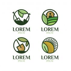 Farm logo collection Free Vector