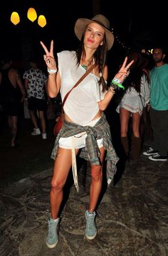 Alessandra Ambrosio at the Coachella Music Festival 2014
