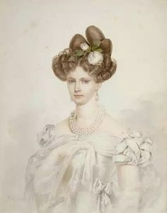 Empress Alexandra Feodorovna of Russia (nee Princes Charlotte of Prussia) by P. Prince Charlotte, Moda Retro, Romantic Paintings, European Dress, Prussia, Kaiser, Watercolor Portraits, Classic Beauty, Dress Wedding