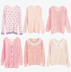 Cute pastel sweaters:)