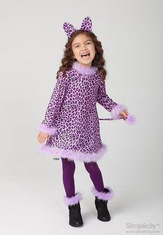 Easy-to-sew childu0027s cat costume for girls #SimplicityPatterns  sc 1 st  Pinterest & Childu0027s cat costume | Halloween | Pinterest | Costumes and Halloween ...