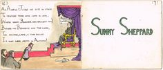 "Lot 204 - Grace Gifford Plunkett Familiar Faces"" hand drawn and coloured booklet. Booklet, Mists, Hand Drawn, Literature, How To Draw Hands, Auction, Faces, Illustrations, History"