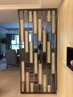 Partition Screen, Room Design, Modern Room Divider, Wooden Room, Wall Decor Bedroom, Stainless Steel Screen, Living Room Partition Design, Luxury Living Room Decor, Living Room Design Modern