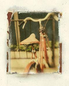 Items similar to Fine Art Photography Inkjet Image Transfer Polaroid Inspired Vintage Bike Photo Modern Wall Decor, Office Decor on Etsy Vintage Polaroid, Polaroid Pictures, Photo Transfer, Modern Wall Decor, Mixed Media Art, Mix Media, New Image, Fine Art Photography, Illustrations Posters