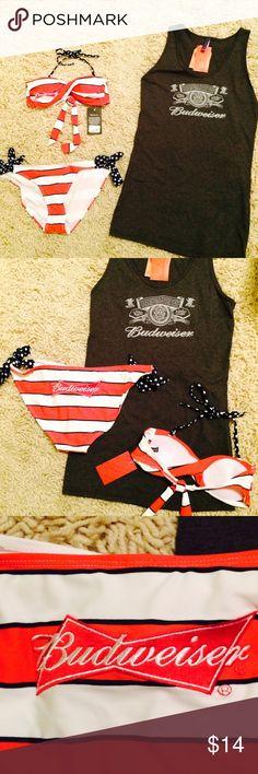 e8721fb9786a07 NWT Budweiser bikini  amp  tank. NWT Budweiser bikini. L bottoms. M top