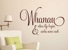 Whanau - Where Life Begins - Grafix Wall Art Mahalo Hawaii, Maori Words, Best Short Quotes, Ptsd Quotes, Tree Quotes, Maori Designs, Wall Decals, Wall Art, Maori Art