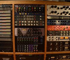 How much API gear can you spot in this rack from Colorado Sound Studios?