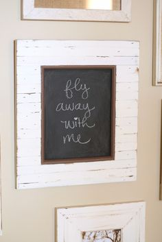paint the glass in a picture frame with chalkboard paint