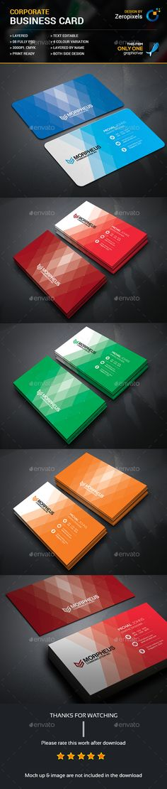 Business Card Template PSD. Download here: https://graphicriver.net/item/business-card/17476221?ref=ksioks