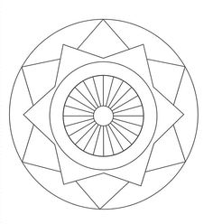 Mandalas bring relaxation and comfort to adults all over the world. Mandalas are one of our favorite things to color. We have some more simple mandalas for kids to color. Mandalas for Kids Geometric Coloring Pages, Easy Coloring Pages, Pattern Coloring Pages, Printable Adult Coloring Pages, Mandala Coloring Pages, Kids Coloring, Coloring Books, Mandala Design, Geometric Mandala