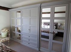 A beautiful collection of fitted wardrobe and bespoke wardrobe designs created by The Heritage Wardrobe Company