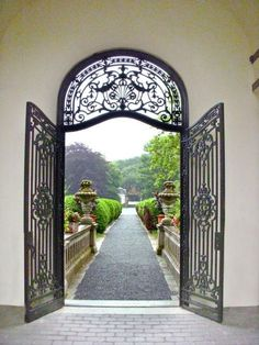 Arched portal to gardens