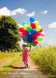 My daughter. <3 #balloons, #up, #kids, #photography