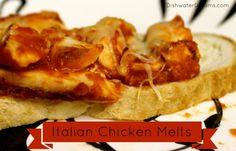 Kids Cooking – Italian Chicken Melt Sandwiches