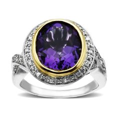 S&G Sterling Silver and 14k Yellow Gold Diamond and Amethyst Ring (1/10 cttw, I-J Color, I3 Clarity), Size 7 Amazon Curated Collection,http://www.amazon.com/dp/B0043RTPCK/ref=cm_sw_r_pi_dp_OLECtb1XCQF55P53